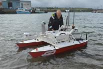 Swathe Services, a Hydrographic survey support company in Hayle, Cornwall UK ran what it calls the world's first Multi-Beam Echo-Sounder training course using a remotely operated Unmanned Surface Vessel
